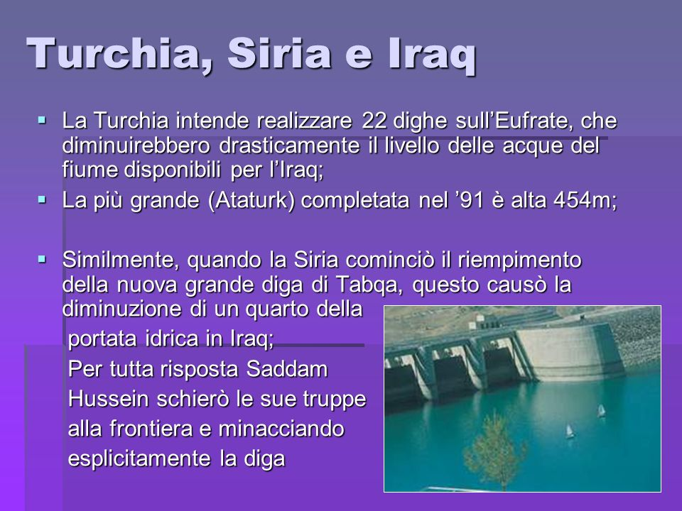 Turchia, Siria e Iraq