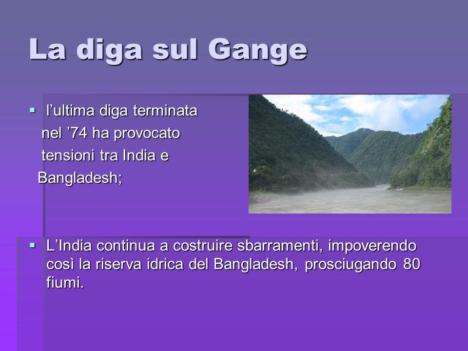 La diga sul Gange l'ultima diga terminata nel '74 ha provocato