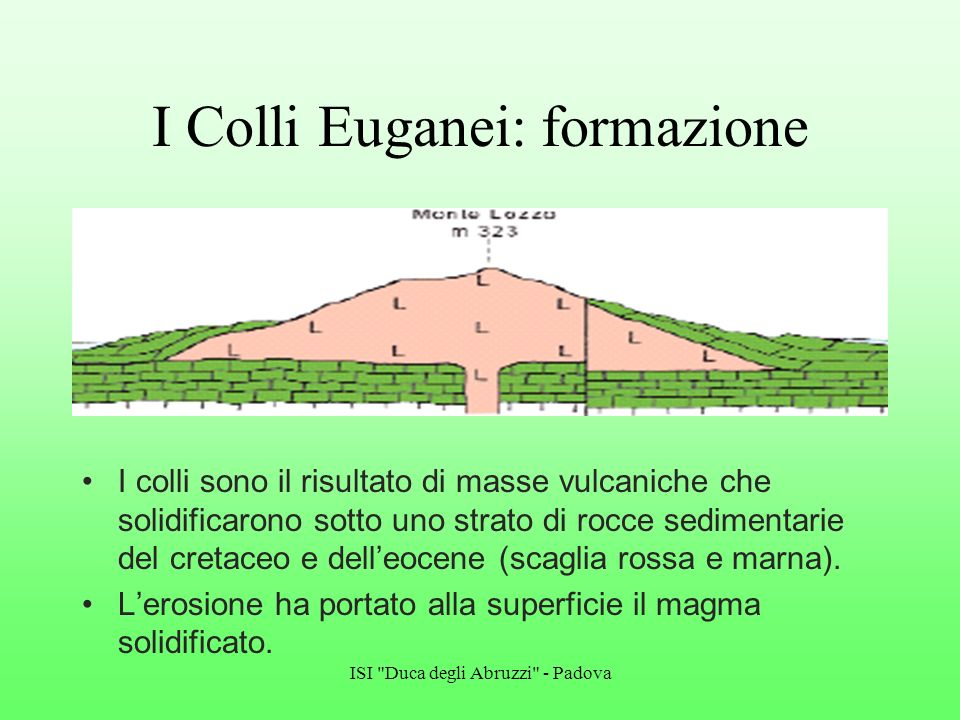 I Colli Euganei: formazione