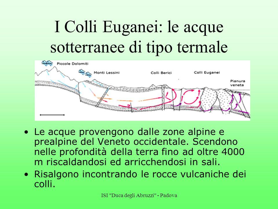 I Colli Euganei: le acque sotterranee di tipo termale