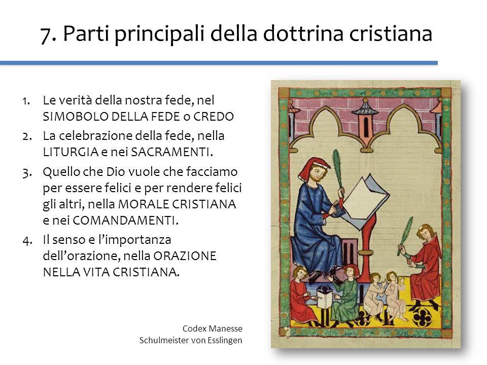 7. Parti principali della dottrina cristiana