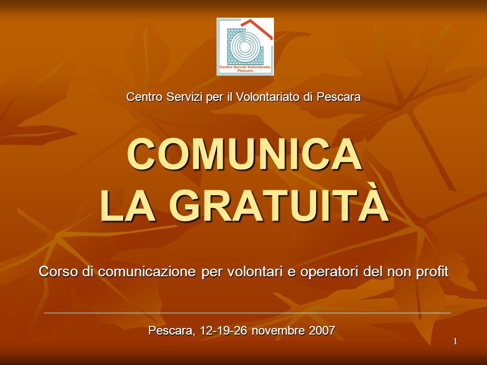 Corso di comunicazione per volontari e operatori del non profit