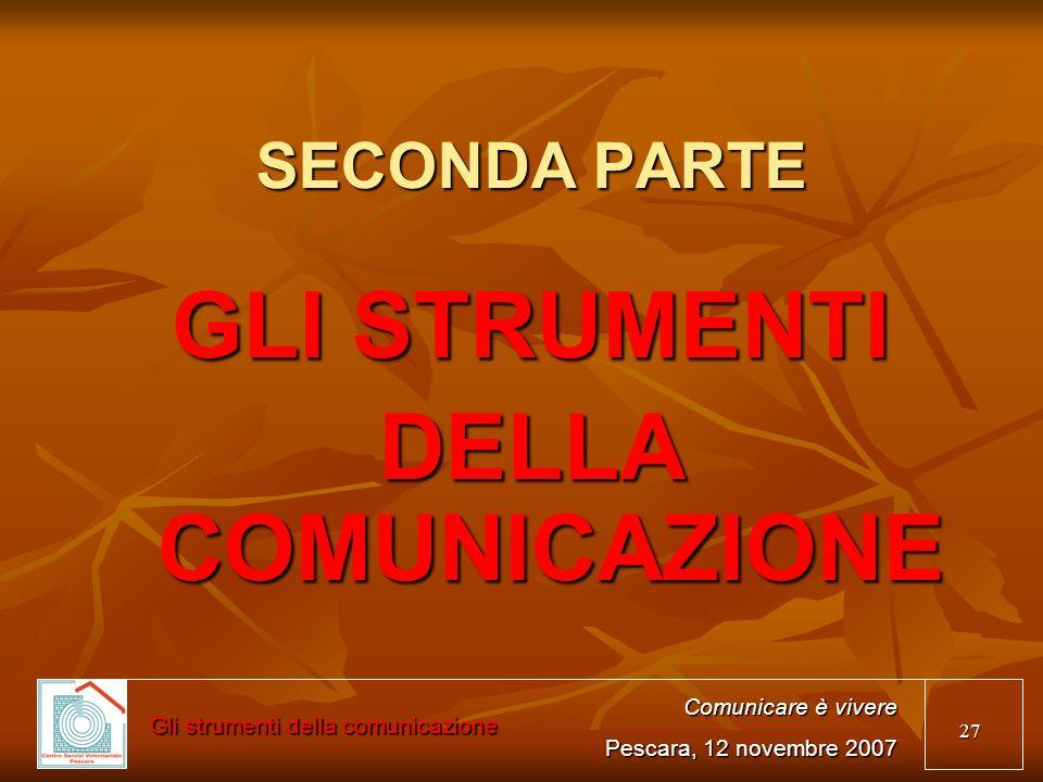 Gli strumenti della comunicazione