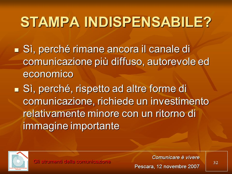 STAMPA INDISPENSABILE