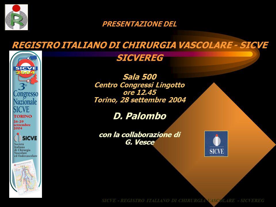 D. Palombo REGISTRO ITALIANO DI CHIRURGIA VASCOLARE - SICVE SICVEREG