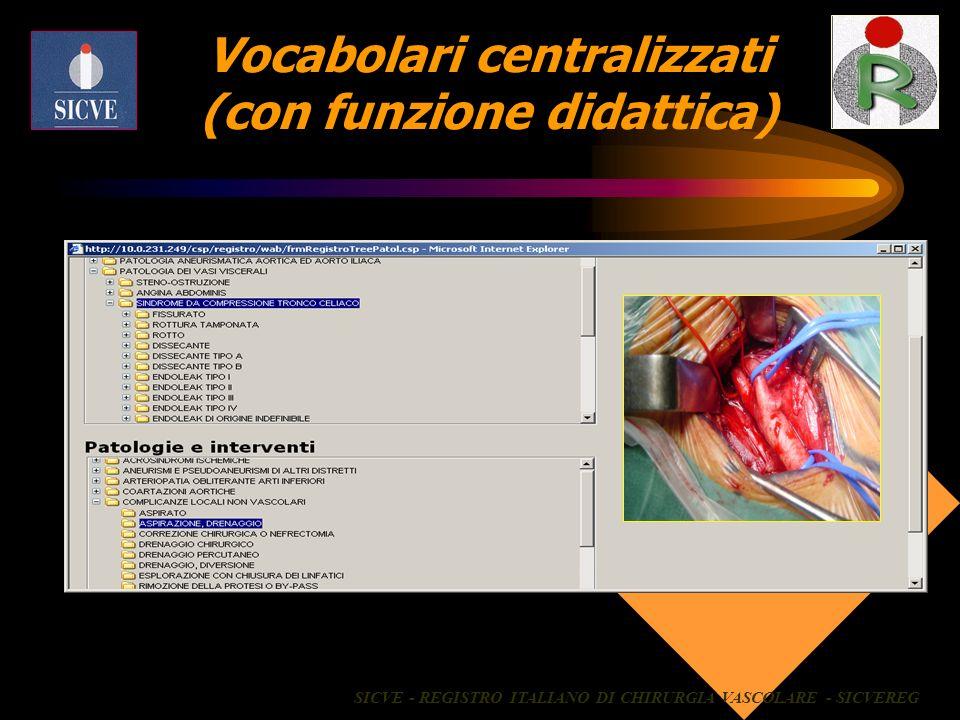 Vocabolari centralizzati (con funzione didattica)