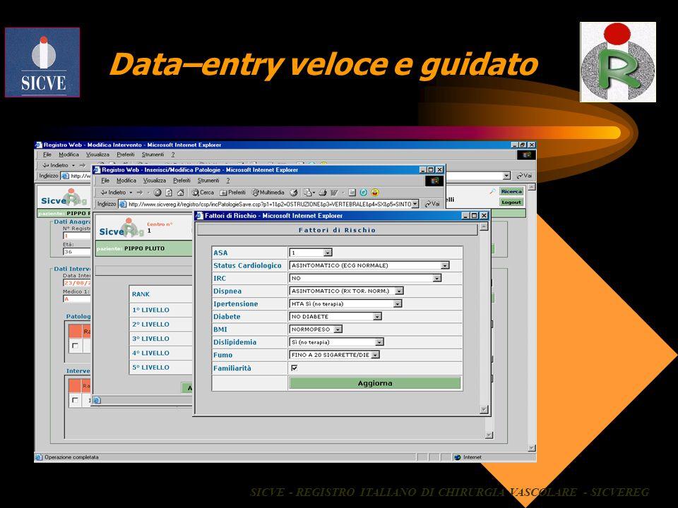 Data–entry veloce e guidato
