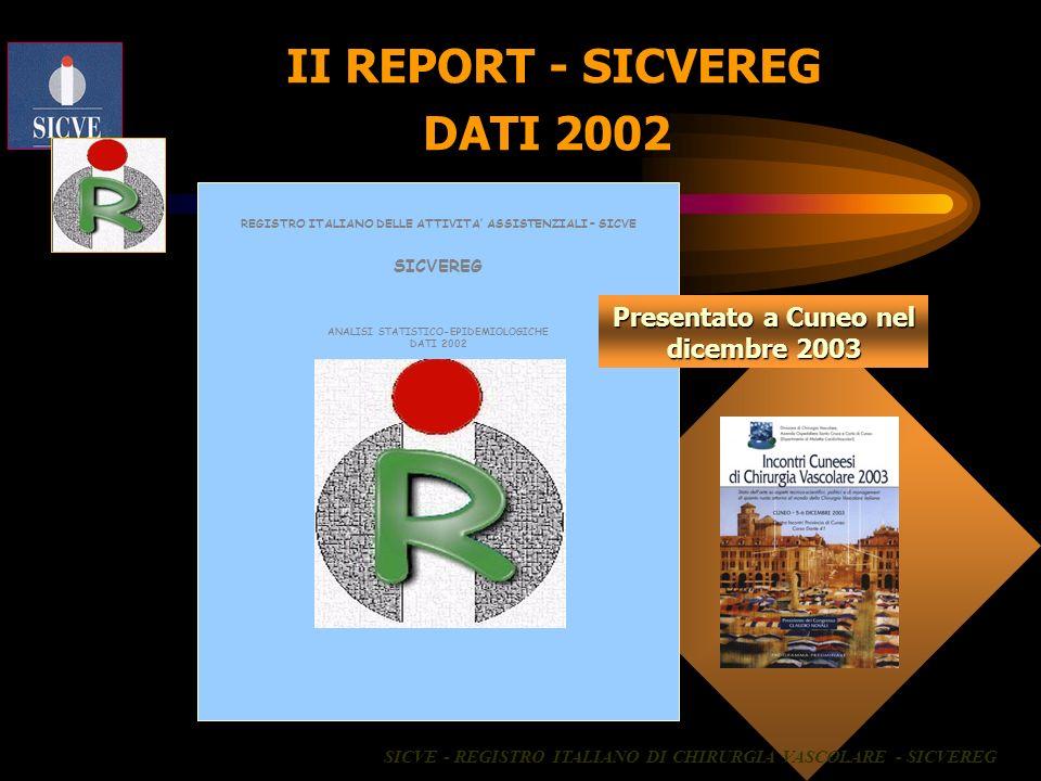 II REPORT - SICVEREG DATI 2002