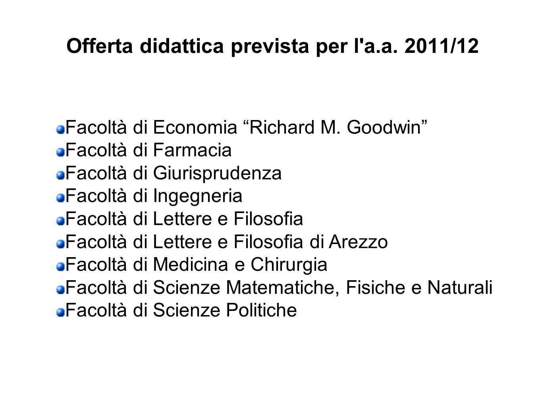 Offerta didattica prevista per l a.a. 2011/12