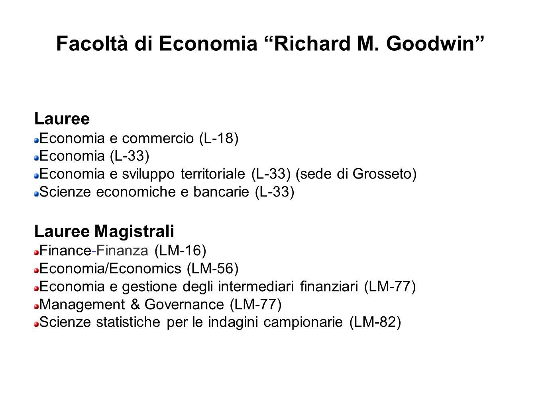 Facoltà di Economia Richard M. Goodwin
