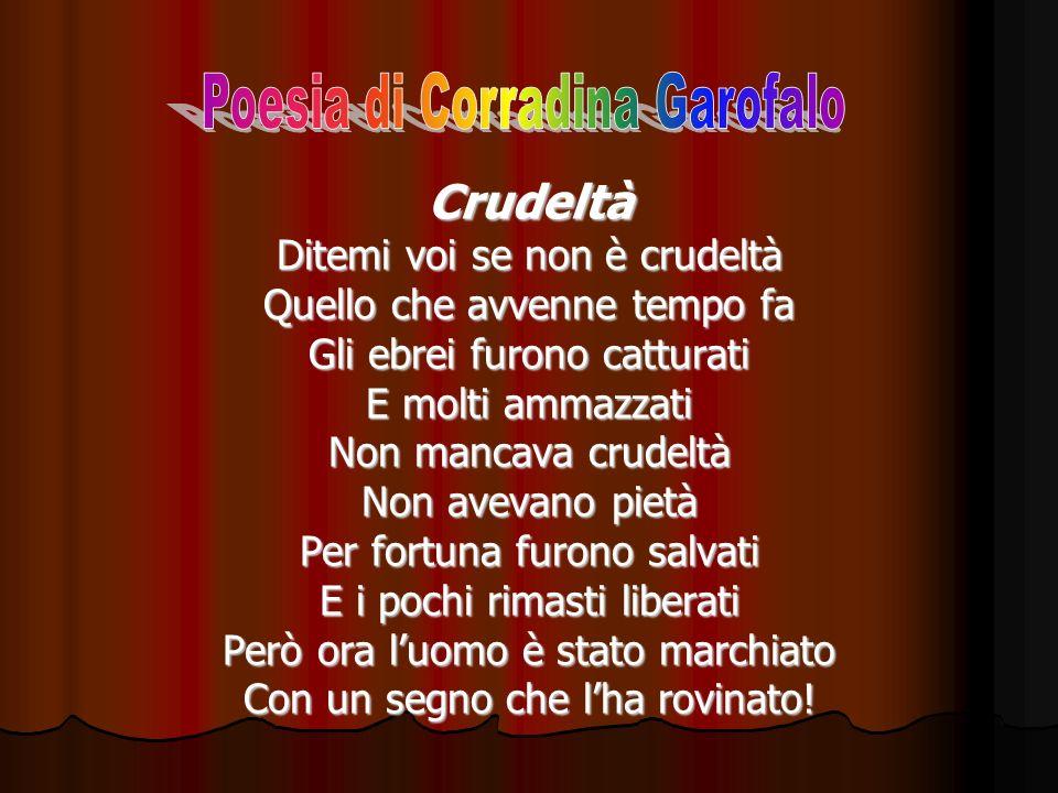 Crudeltà Poesia di Corradina Garofalo Ditemi voi se non è crudeltà