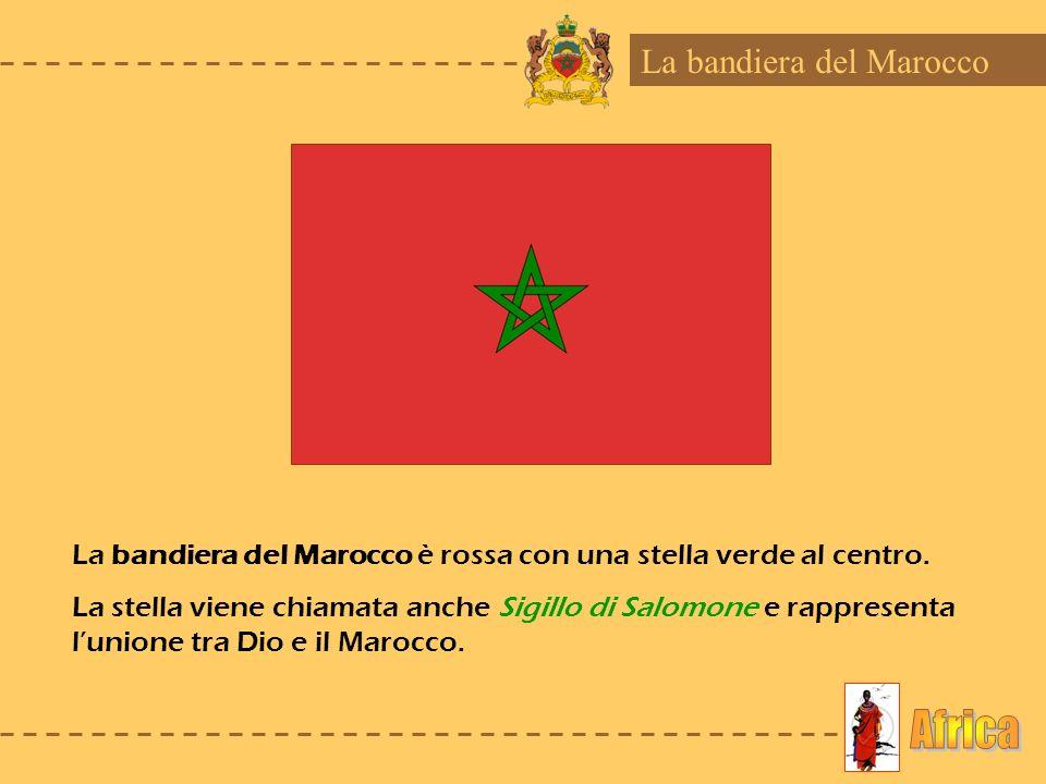 Africa La bandiera del Marocco