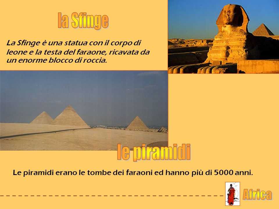 la Sfinge le piramidi Africa