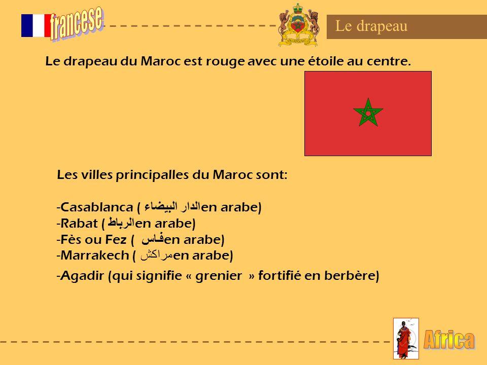 francese Africa Le drapeau