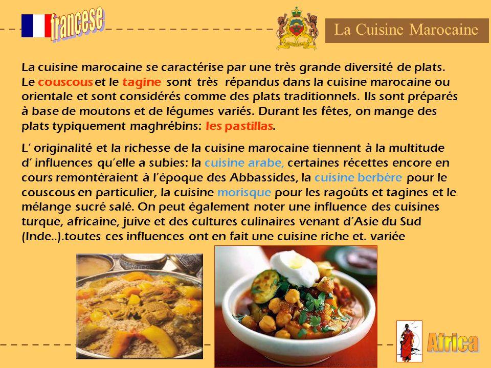 francese Africa La Cuisine Marocaine