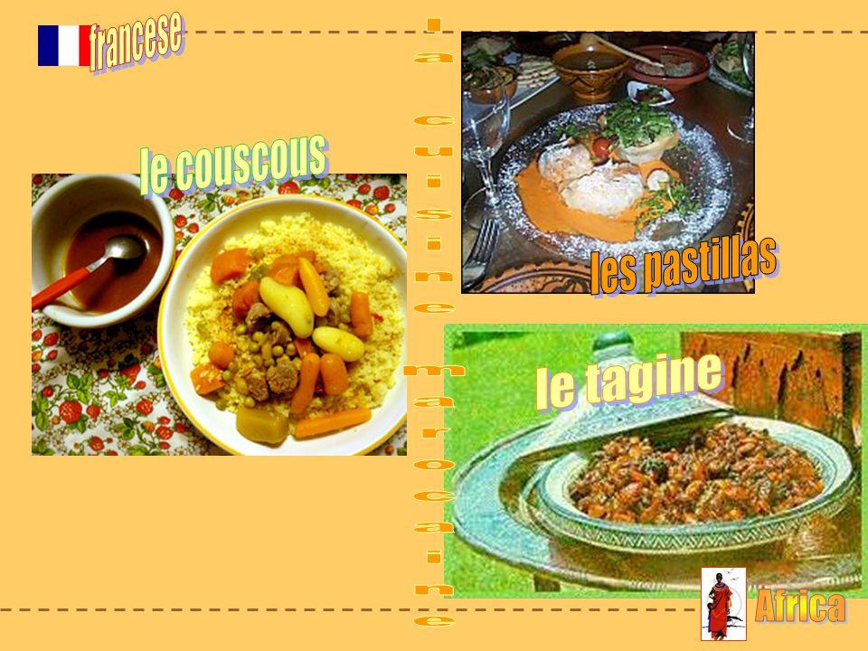 francese le couscous les pastillas la cuisine marocaine le tagine Africa