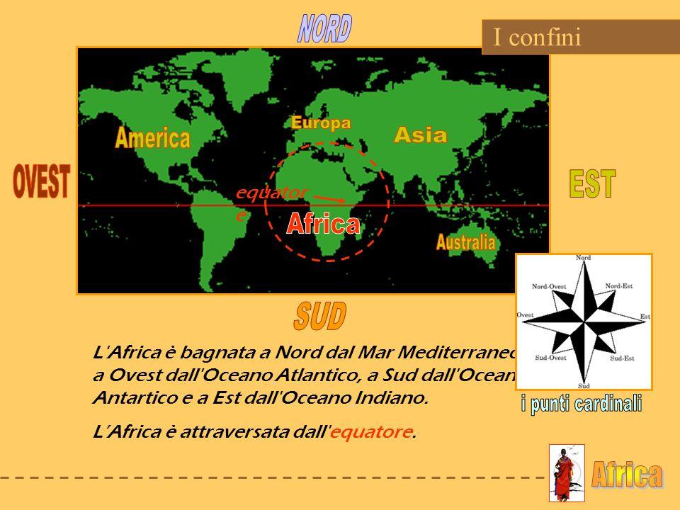 NORD Europa America Asia OVEST EST Africa Australia SUD