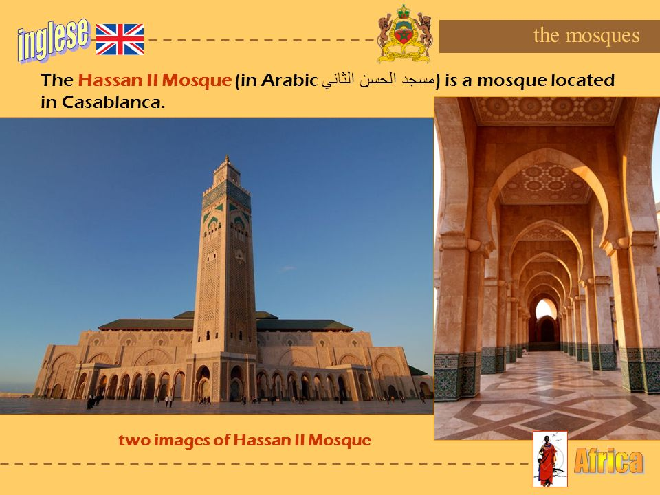 two images of Hassan II Mosque