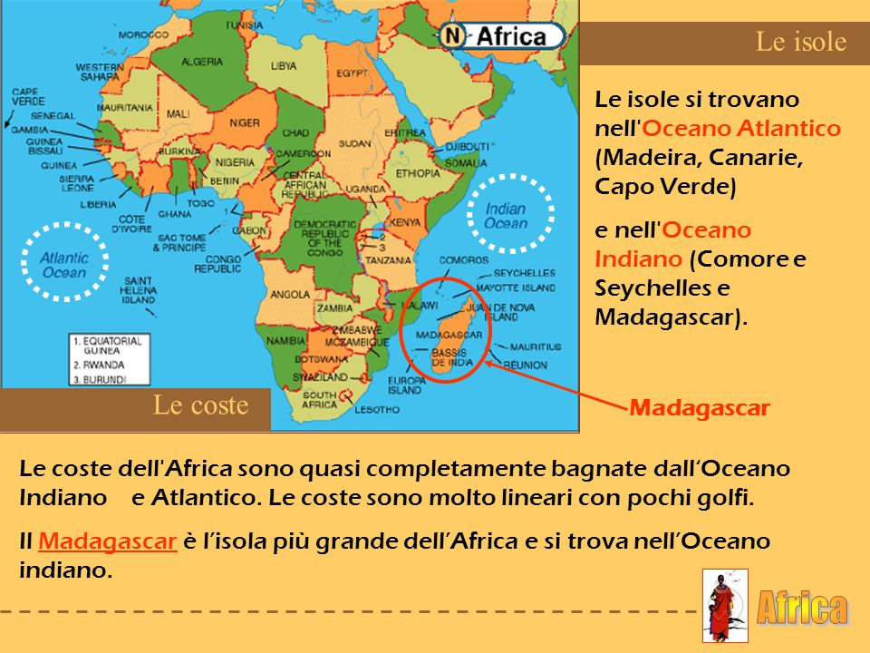 Africa Le isole Le coste