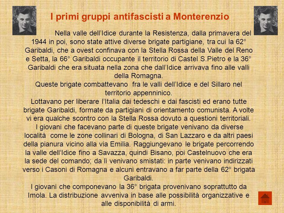 I primi gruppi antifascisti a Monterenzio