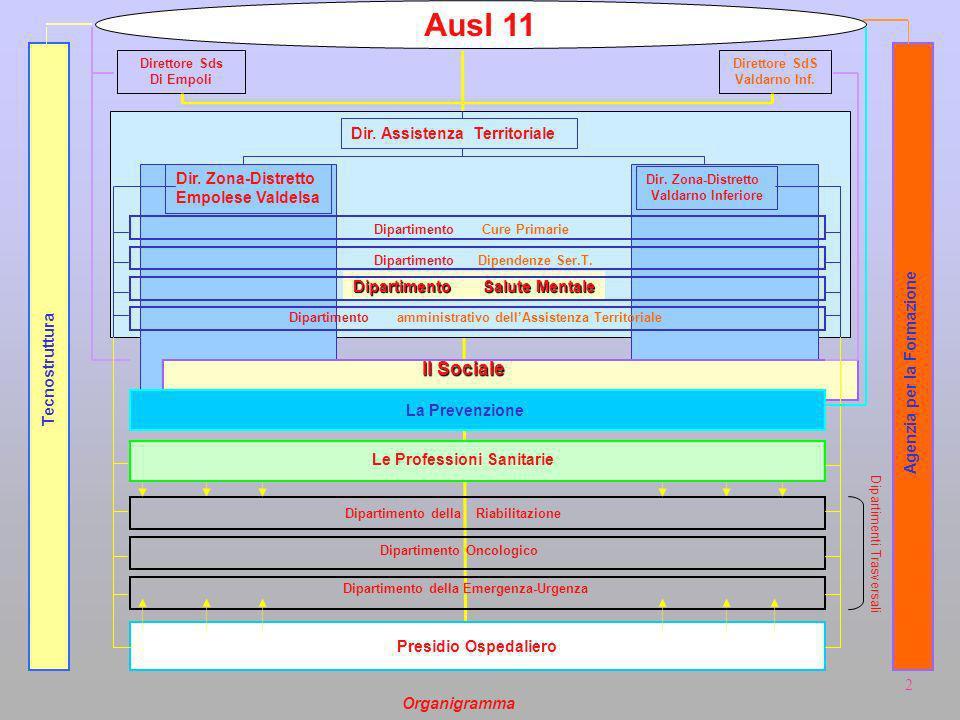 Ausl 11 Il Sociale Dir. Assistenza Territoriale Dir. Zona-Distretto