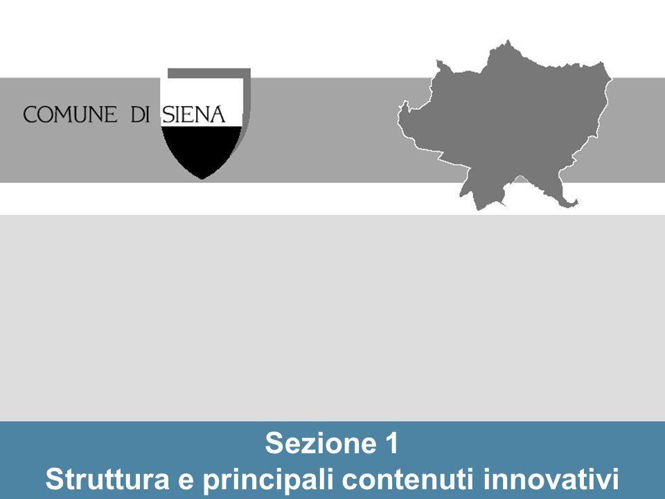 Struttura e principali contenuti innovativi