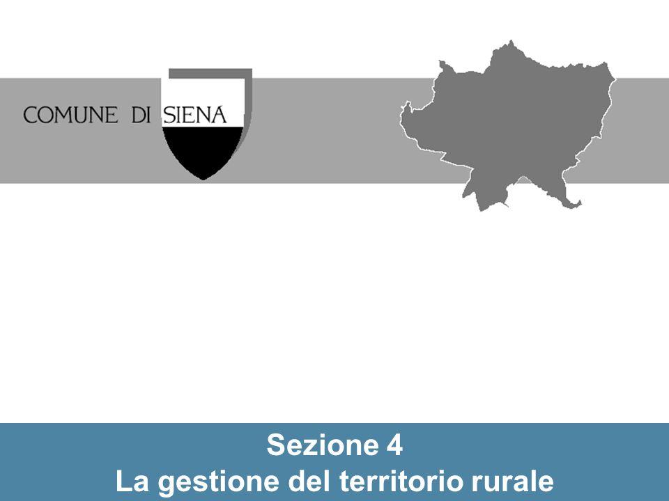La gestione del territorio rurale