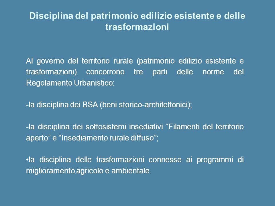 Disciplina del patrimonio edilizio esistente e delle trasformazioni