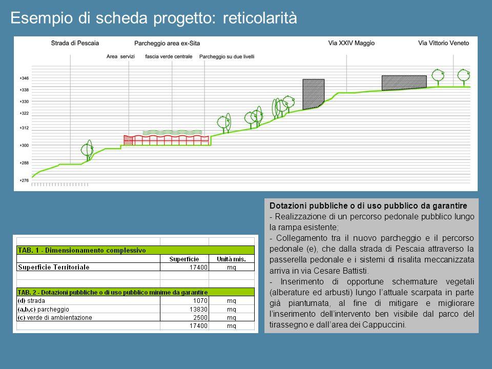 Esempio di scheda progetto: reticolarità