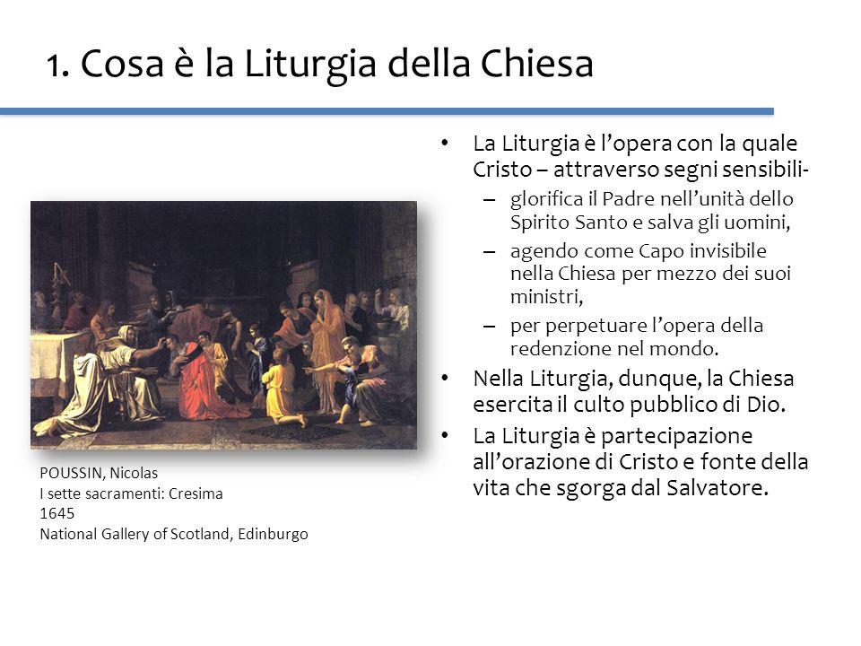 1. Cosa è la Liturgia della Chiesa