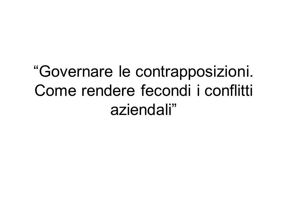 Governare le contrapposizioni