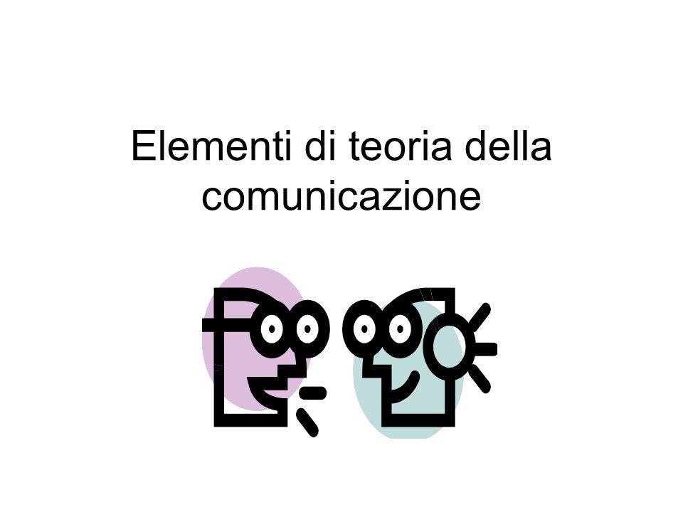 Elementi di teoria della comunicazione