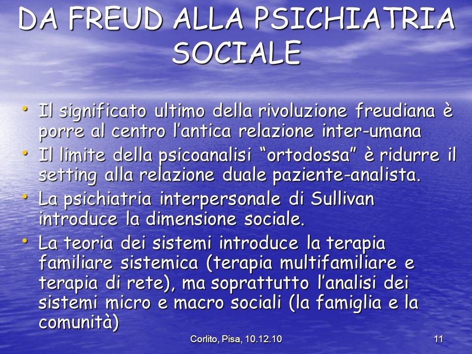 DA FREUD ALLA PSICHIATRIA SOCIALE
