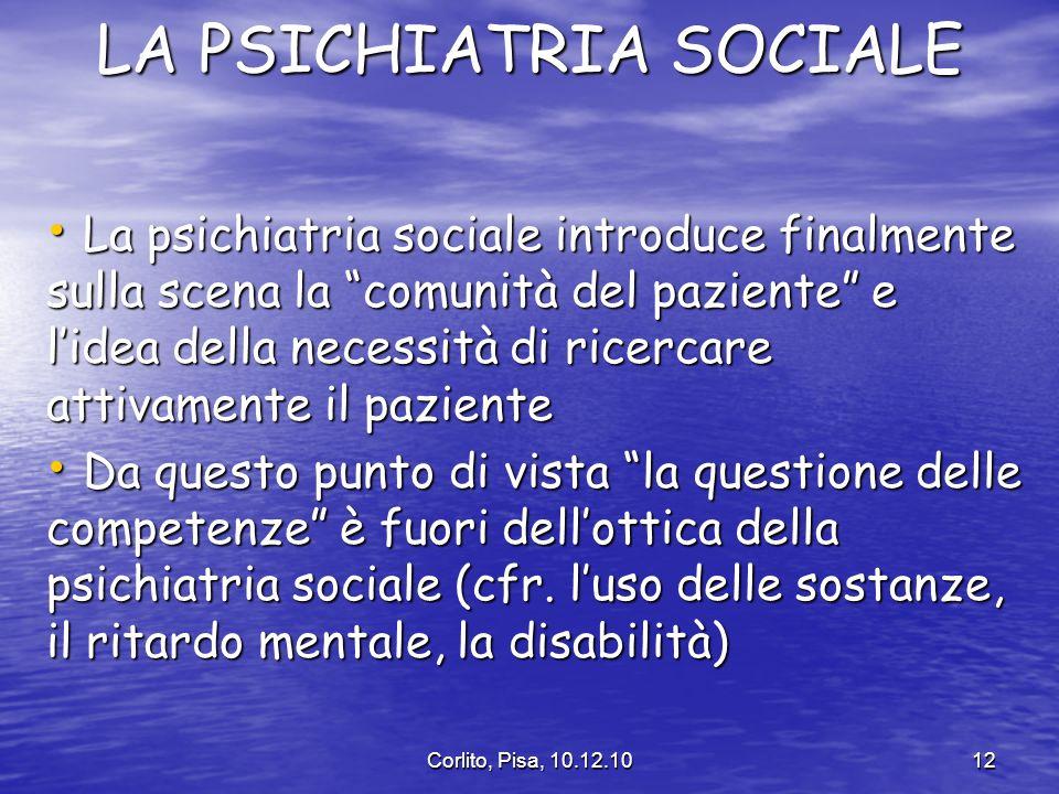 LA PSICHIATRIA SOCIALE