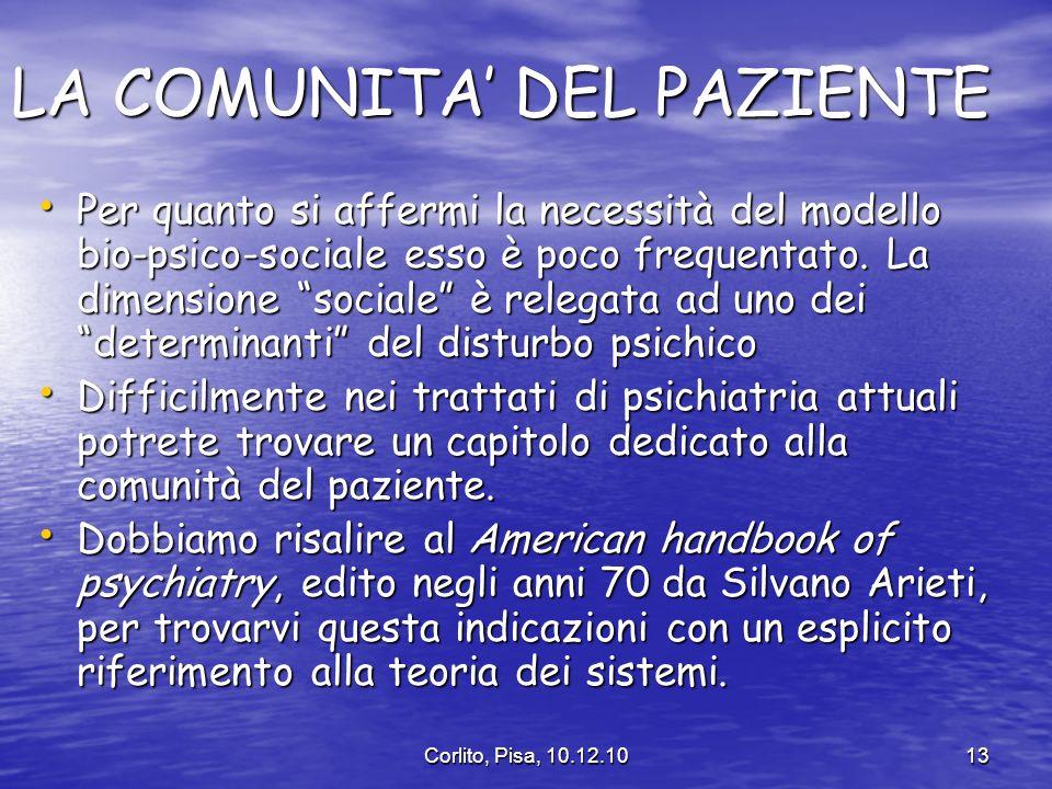 LA COMUNITA' DEL PAZIENTE