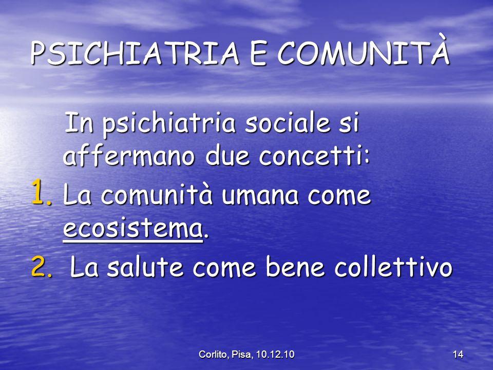 PSICHIATRIA E COMUNITÀ