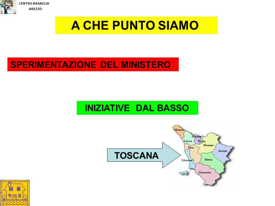 A CHE PUNTO SIAMO SPERIMENTAZIONE DEL MINISTERO INIZIATIVE DAL BASSO