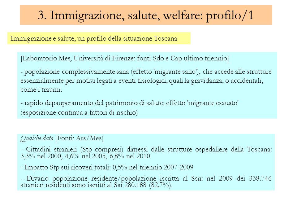 3. Immigrazione, salute, welfare: profilo/1