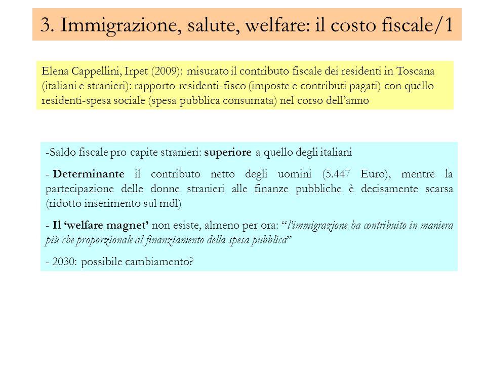3. Immigrazione, salute, welfare: il costo fiscale/1
