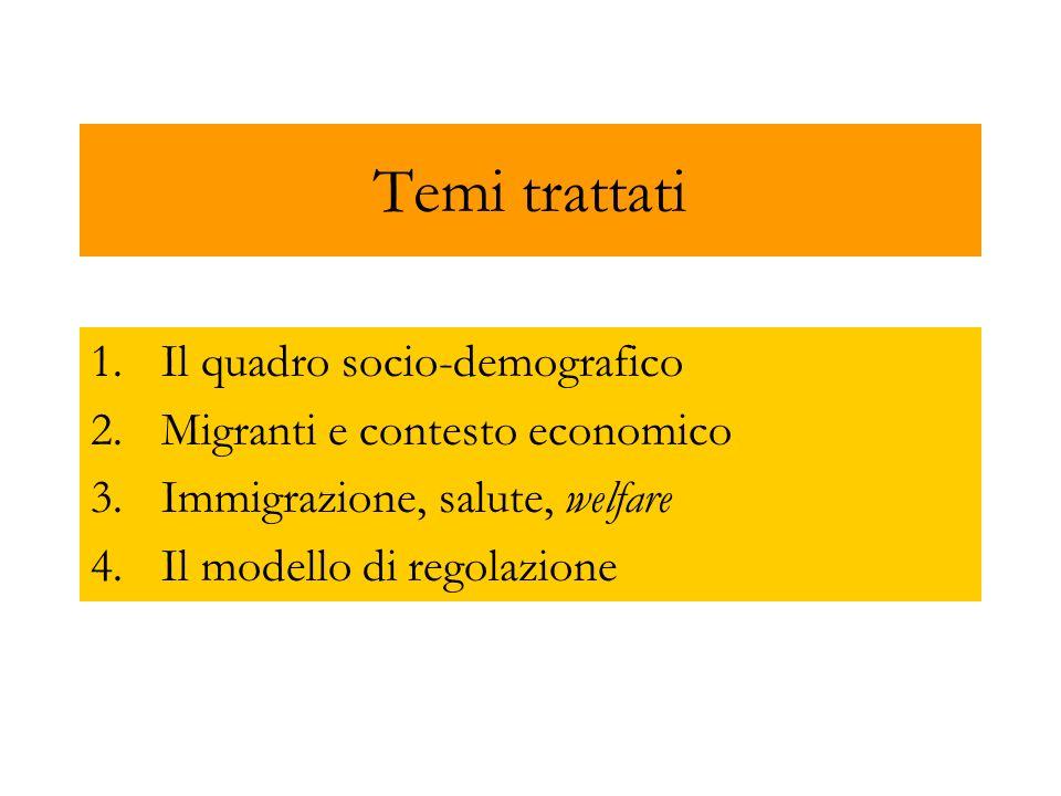 Temi trattati Il quadro socio-demografico
