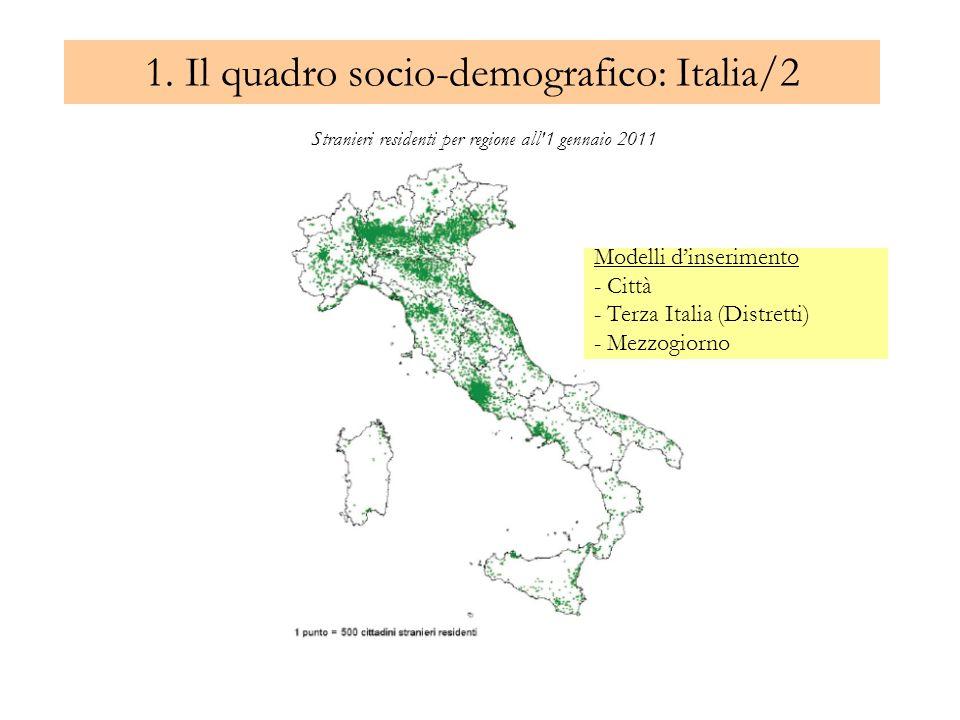 1. Il quadro socio-demografico: Italia/2