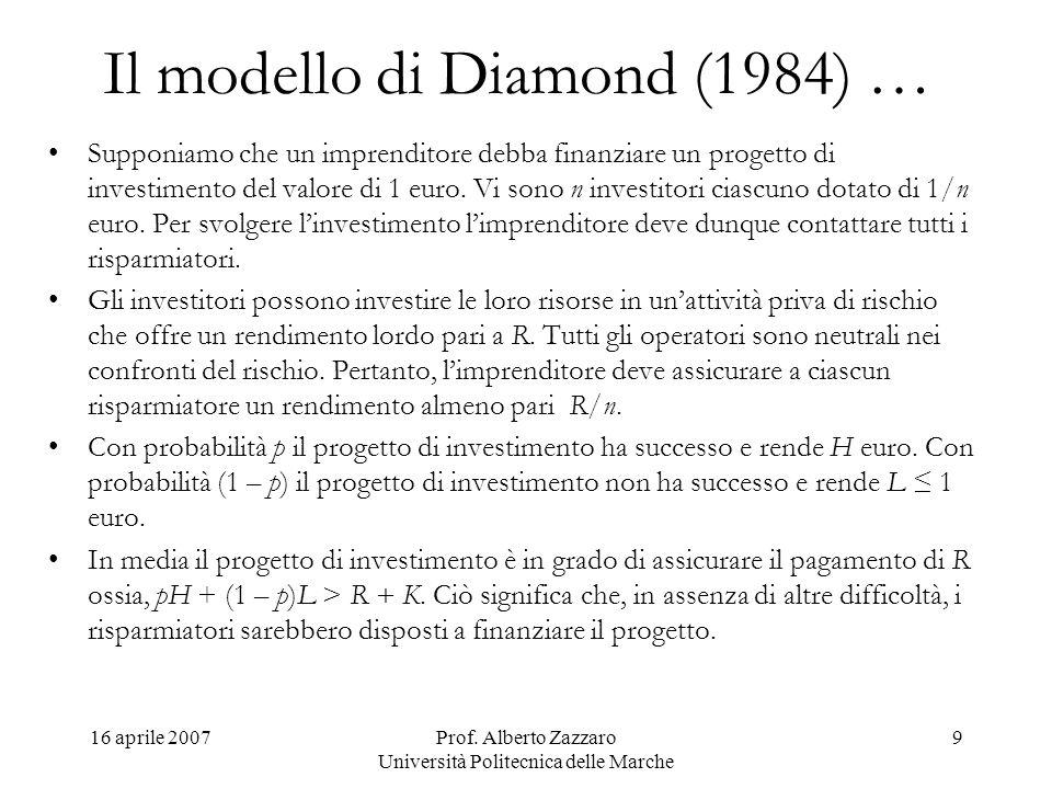 Il modello di Diamond (1984) …