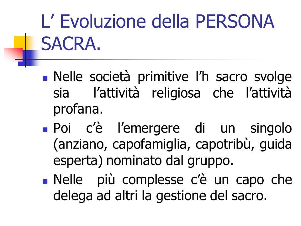 L' Evoluzione della PERSONA SACRA.