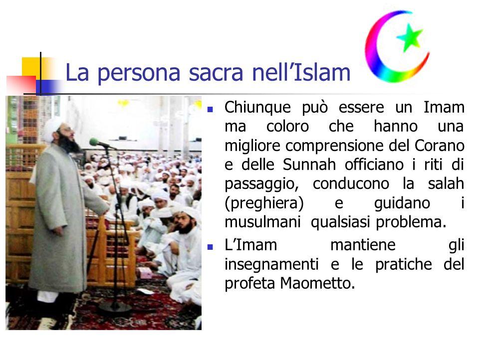 La persona sacra nell'Islam