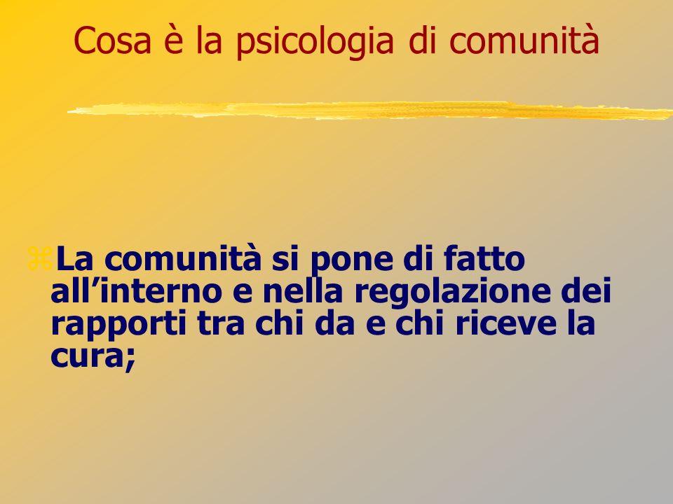 Cosa è la psicologia di comunità