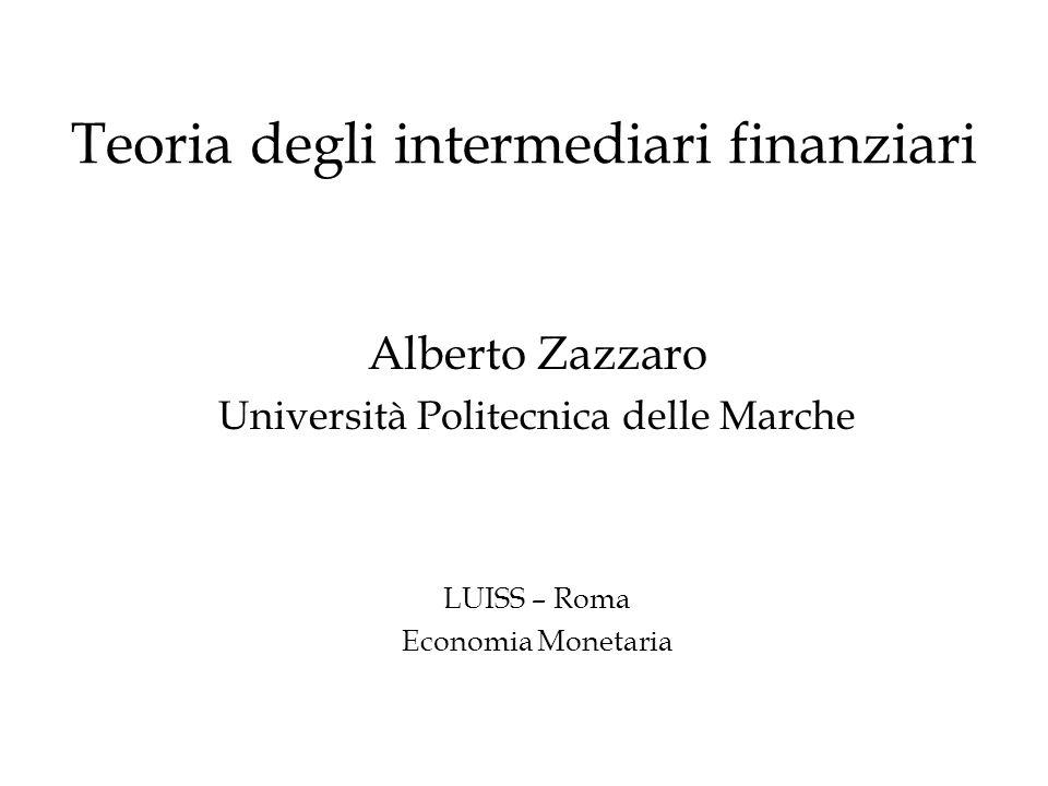 Teoria degli intermediari finanziari