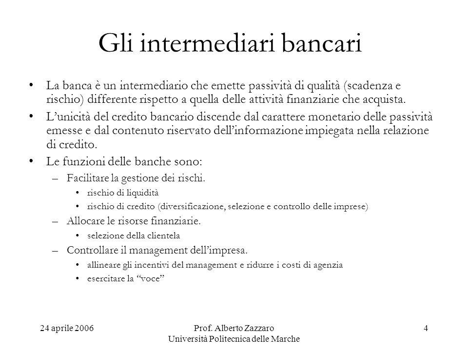 Gli intermediari bancari
