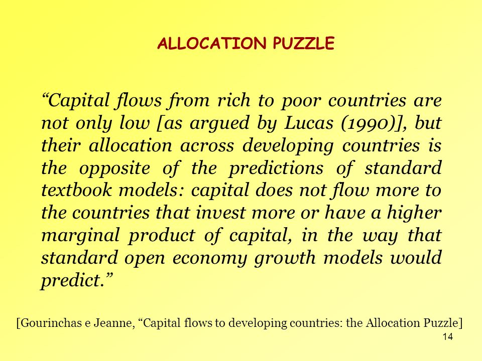 ALLOCATION PUZZLE