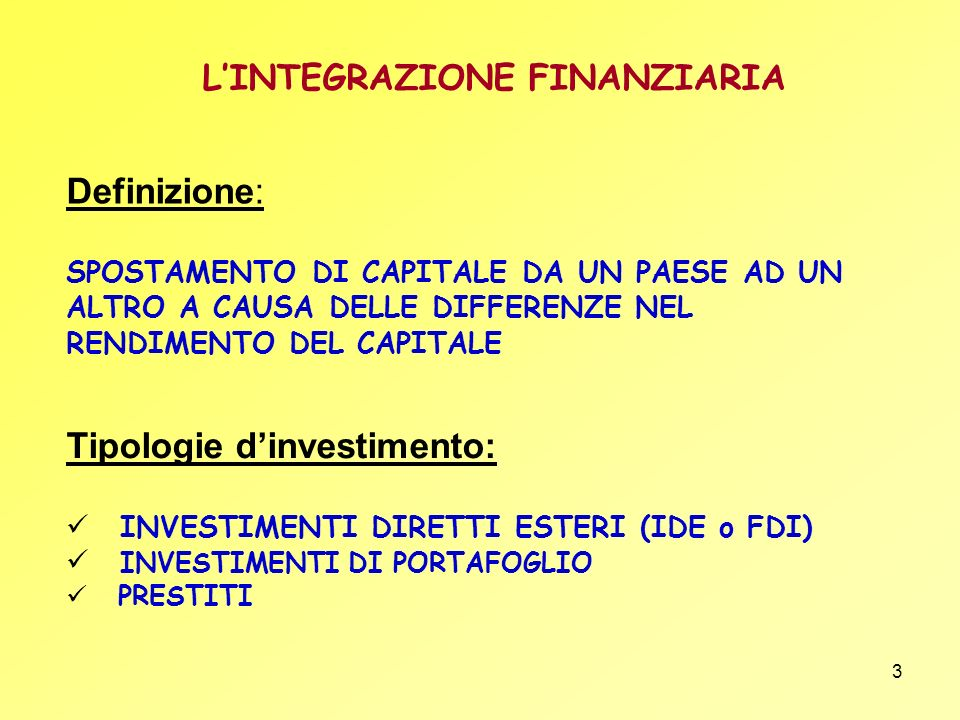 Tipologie d'investimento: