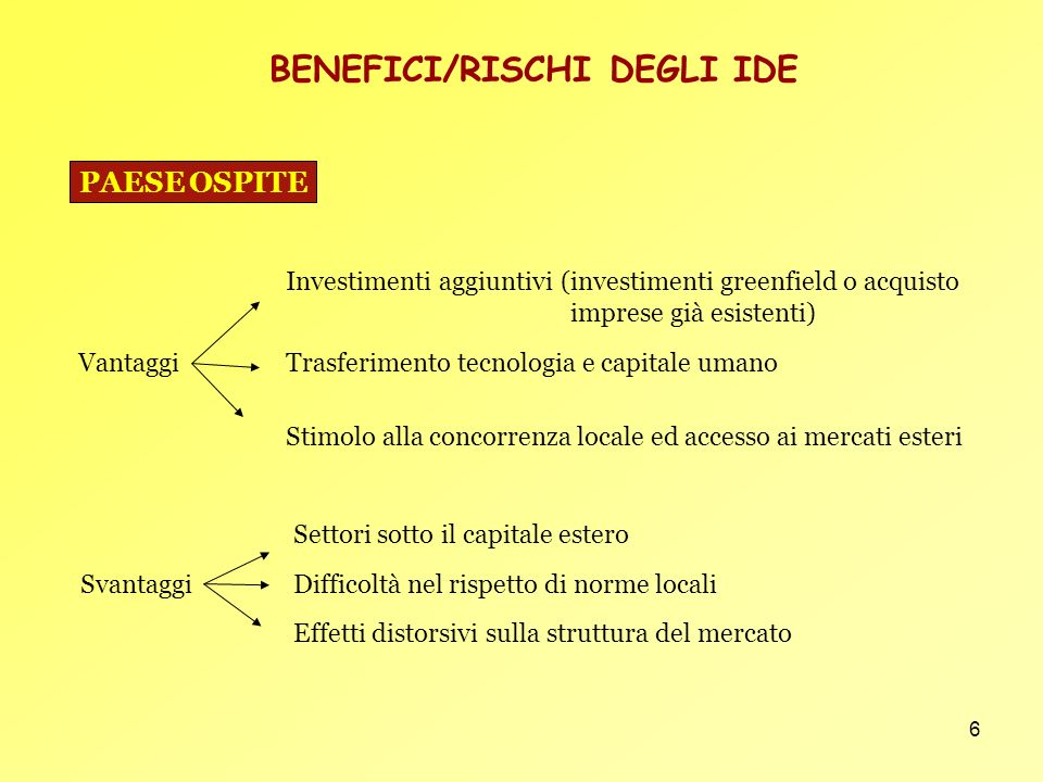 BENEFICI/RISCHI DEGLI IDE